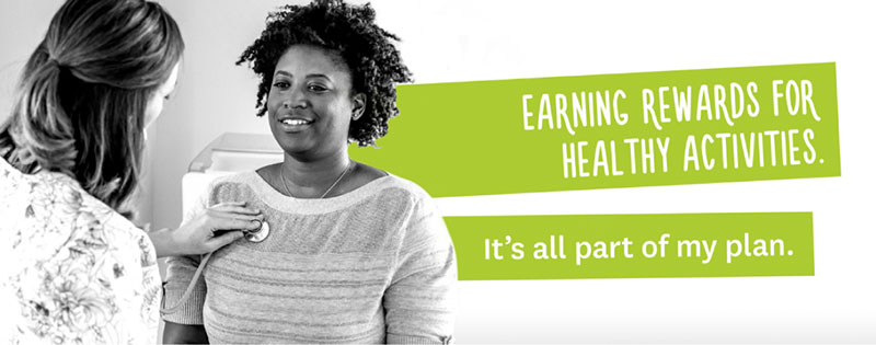 Earning rewards for healthy activities. It's all part of my plan.